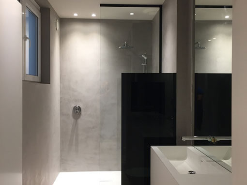 Volledig afgewerkte badkamer, alles op maat