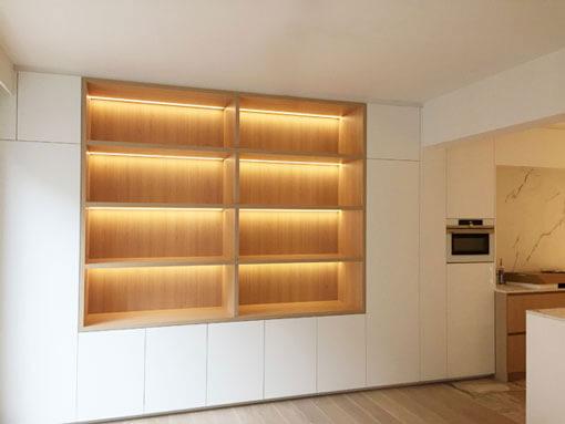 Renovatie keuken naar open keuken met kasten op maat